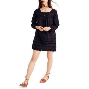 Madewell Eyelet Trim Shift Dress Embroidered G7796